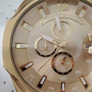 Brand new gold Diesel watch, water resistant.